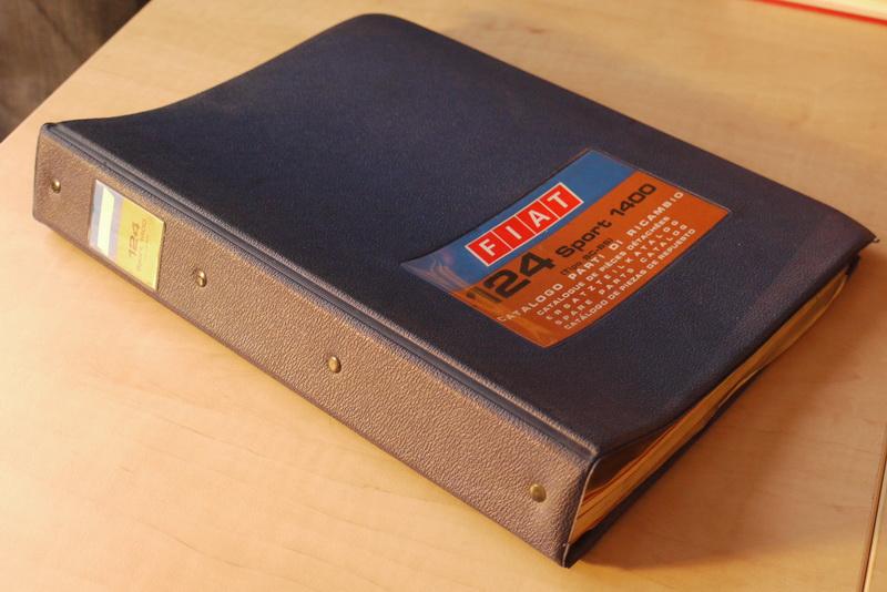 - Fiat 124 Sport 1400 (Tipo BC-BS). catalogo parti di ricambio / spare parts catalog