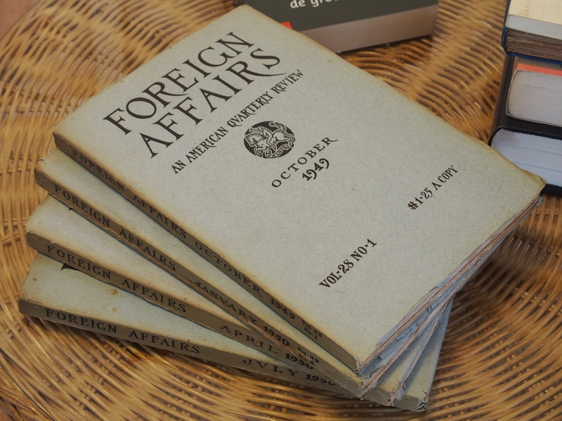 - Foreign affairs. An American Quarterly Review: Vol. 28 No. 1-4, October 1949 - July 1950